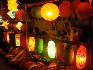 Night Market in Vientiane, Laos