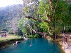 Blue Lagoon in Vang Vieng Laos