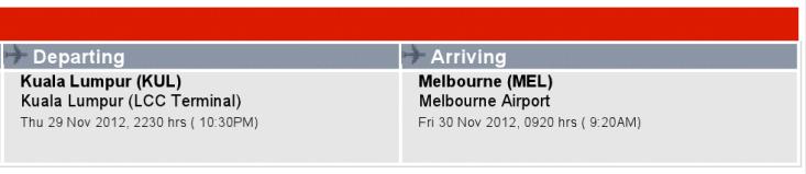 Kuala Lumpur to Melbourne