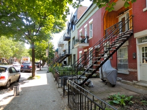 Montreal residential street